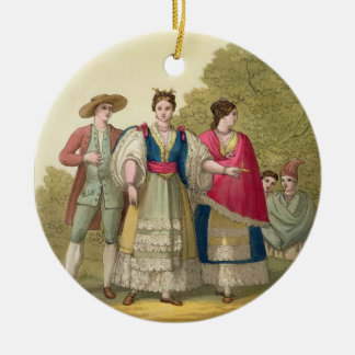 Peruvian Men and Women in Traditional Costume (col Christmas Ornament
