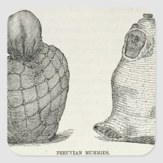 Peruvian Mummies Square Sticker