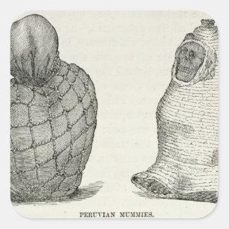 Peruvian Mummies Square Sticker