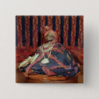 Peruvian mummy from the Paracas cemetery 15 Cm Square Badge