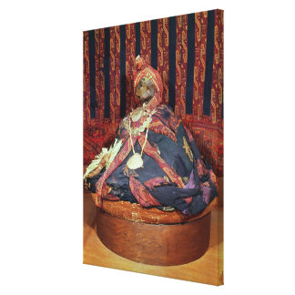 Peruvian mummy from the Paracas cemetery Canvas Print