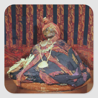 Peruvian mummy from the Paracas cemetery Square Sticker