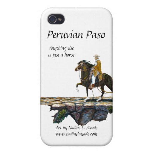 Peruvian Paso Horse Rider on Mountain trail Covers For iPhone 4