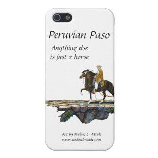 Peruvian Paso Horse Rider on Mountain trail iPhone 5 Cases