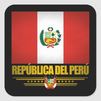 """Peruvian Pride"" Square Sticker"