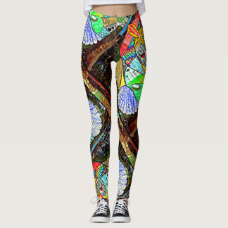 Peruvian Rainbow Goddes Leggings Street Art