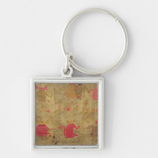 Peruvian shroud; cotton and vicuna brocaded key ring