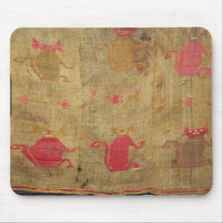 Peruvian shroud; cotton and vicuna brocaded mouse mat