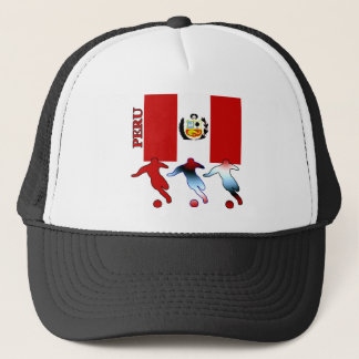 Peruvian Soccer Players Trucker Hat