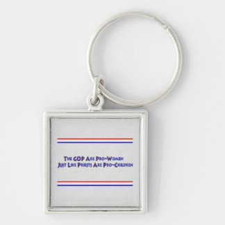 PERVERT CLUB Silver-Colored SQUARE KEY RING