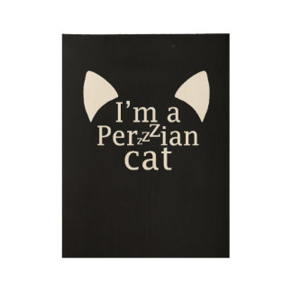 Perzzzian Cat Wood Poster