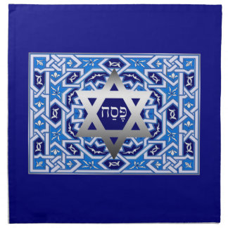 """Pesach"" Hebrew Text Passover Matzah Cover Napkin"