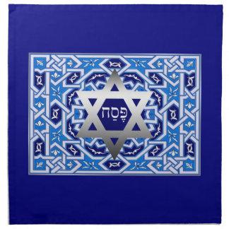 """Pesach"" Hebrew Text Passover Matzah Cover Cloth Napkin"