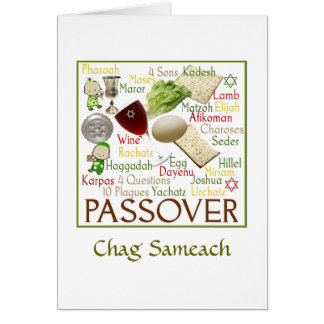 Pesach Symbols Note Card
