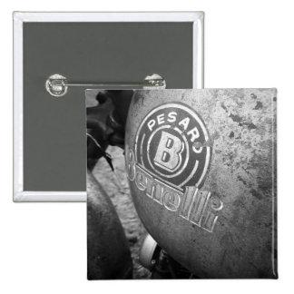 Pesaro Benelli vintage motorcycle 15 Cm Square Badge