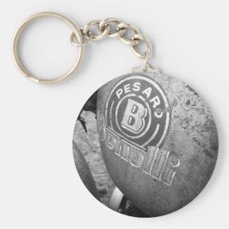 Pesaro Benelli vintage motorcycle Basic Round Button Key Ring