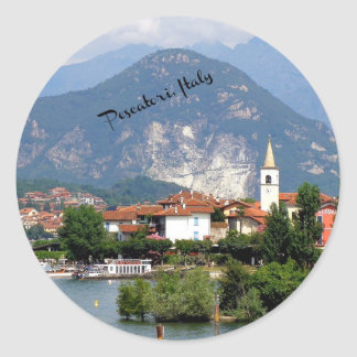 Pescatori, Italy landscape Round Sticker
