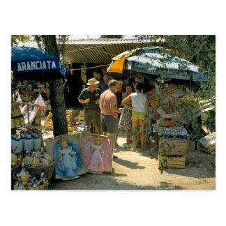 Peschiera, Lake Garda, market Postcard
