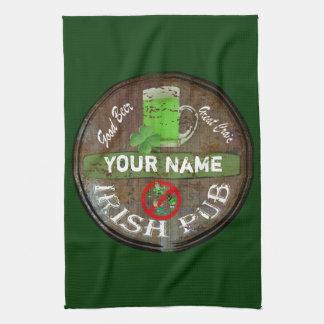 Pesonalized Irish pub sign Tea Towel