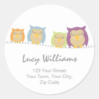 Pesrsonalised Owl Address Stickers