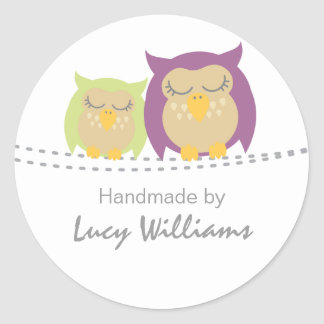 Pesrsonalised Owl Handmade By Stickers