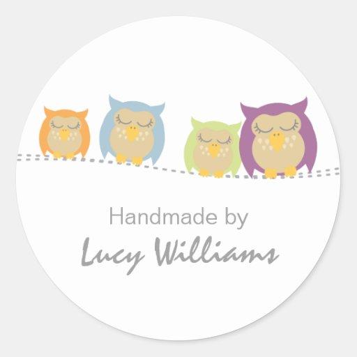 Pesrsonalised Owl Handmade By Stickers