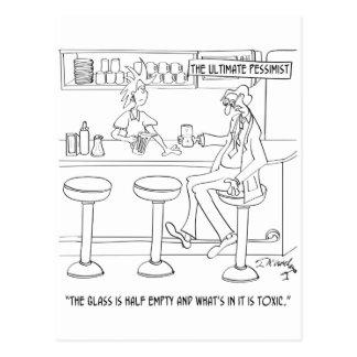 Pessimist Cartoon 9333 Postcard
