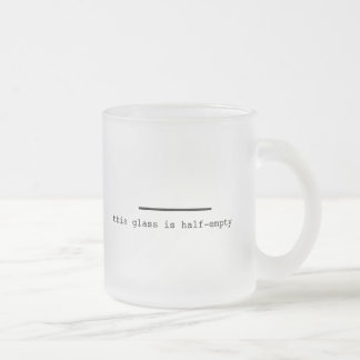 Pessimist or Optimist? Frosted Glass Coffee Mug
