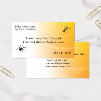 Pest Control Exterminator Bugs Insects Business Card