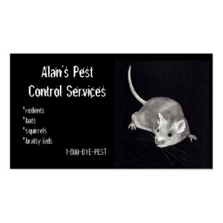 PEST CONTROL: MOUSE IN PENCIL: BUSINESS BUSINESS CARD TEMPLATE