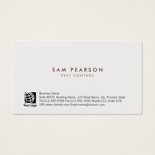 Pest Control Simple Minimal Business Card
