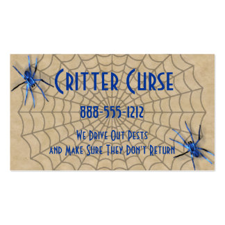 Pest Control Spiders and Web Pack Of Standard Business Cards