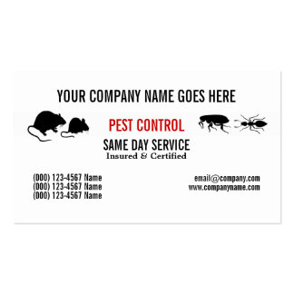 Pest Vermin Control Personalize Pack Of Standard Business Cards