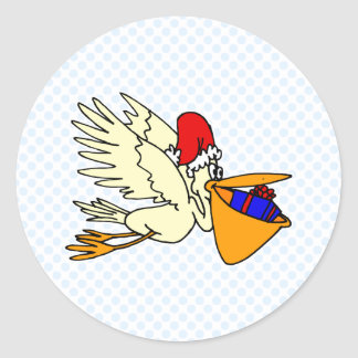 Pesty Pelican Classic Round Sticker