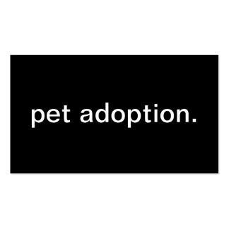 Pet Adoption Pack Of Standard Business Cards