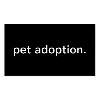 Pet Adoption Business Card Templates