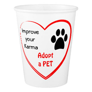 Pet Adoption Paper Cup