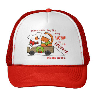 Pet Adoption Patch n Rusty Home for Christmas Cap