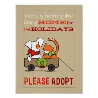 Pet Adoption Patch n Rusty Home for Christmas Poster