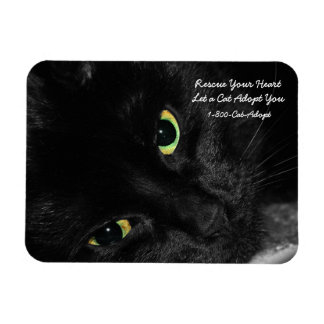 Pet Adoption Rescue Your Heart Adopt a Black Cat Flexible Magnets