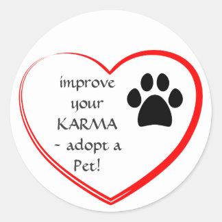 Pet Adoption Round Sticker