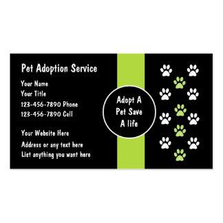 Pet Adoption Service Business Cards