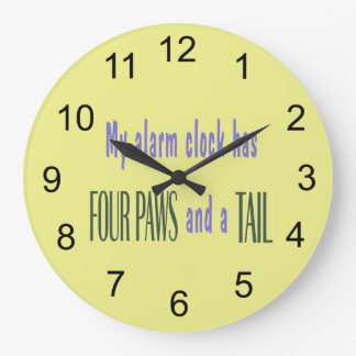 Pet Alarm Clock - Yellow Background