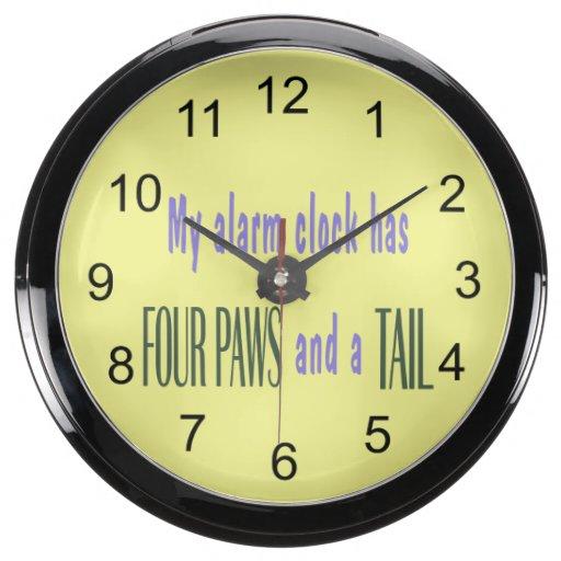 Pet Alarm Clock - Yellow Background Aquavista Clock