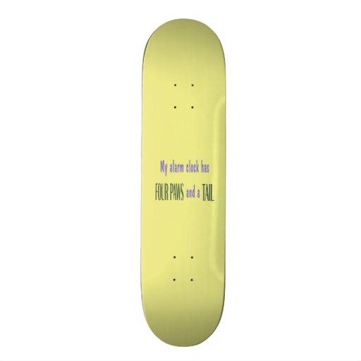Pet Alarm Clock - Yellow Background Skate Boards