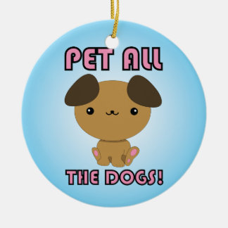 Pet All the Dogs! Kawaii Puppy Christmas Tree Ornaments