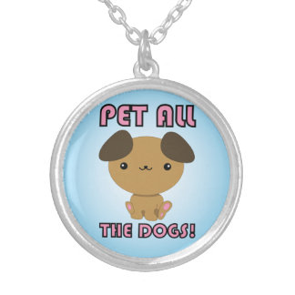 Pet All the Dogs Kawaii Puppy Personalized Necklace