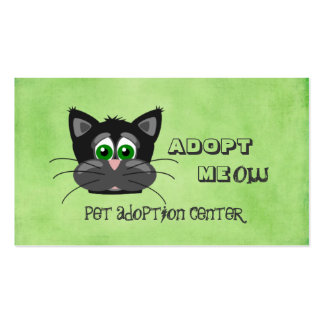 Pet Animal Adoption Center Shelter Double-Sided Standard Business Cards (Pack Of 100)