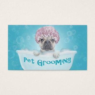 Pet Bathing and Grooming Bulldog Appointment Business Card