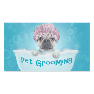 Pet Bathing and Grooming Bulldog Appointment Pack Of Standard Business Cards